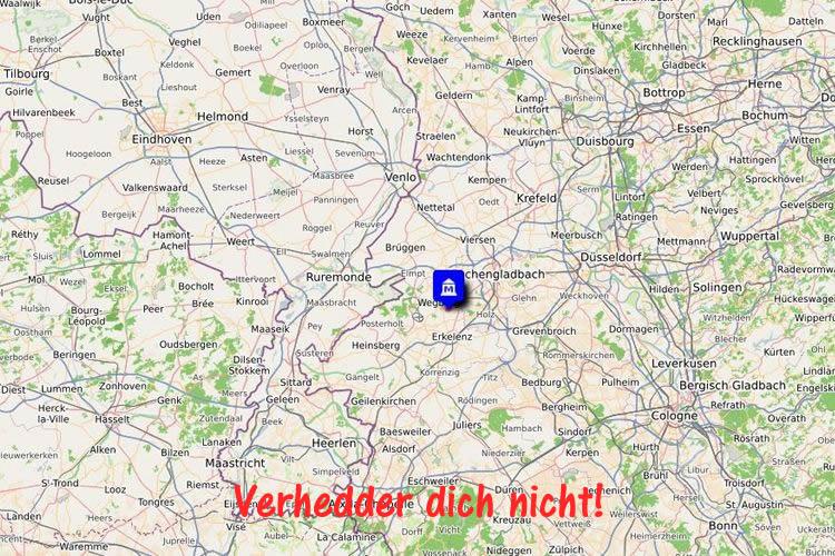 erlebnsimuseen-wegberg-beeck-nrw-niederhein-open-street-map-umgebungskarte-Verhedder dich nicht!