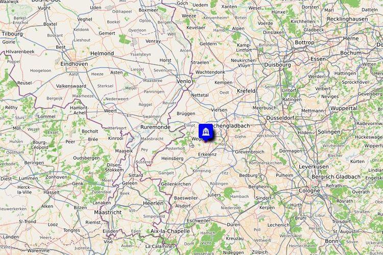 erlebnsimuseen-wegberg-beeck-nrw-niederhein-open-street-map-umgebungskarte